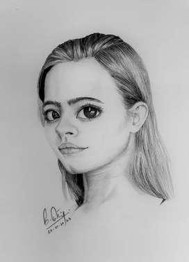 Drawing- the beautiful girl
