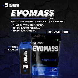 EVOLENE Evomass Weight Gainer 4.5kg - Suplemen Protein Penambah BB