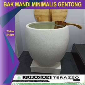 BAK MANDI TERASO-BAK MANDI MINIMALIS MARMER MURAH