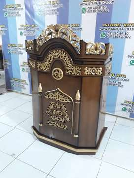 Mimbar jati alami mewah istana jati al muslim tte5
