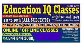 Tution at Education IQ Classes