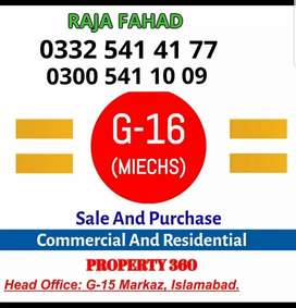 1 kanal plot available for sale in G-16/3