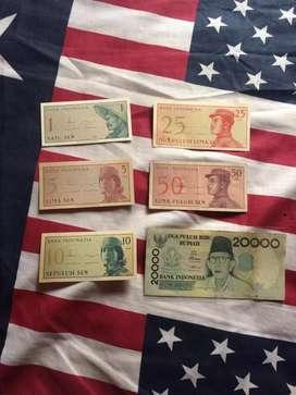 Uang Kuno (Set Lengkap Sen+20.00)