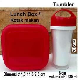 Souvenir 1 set lunch box dan tumbler