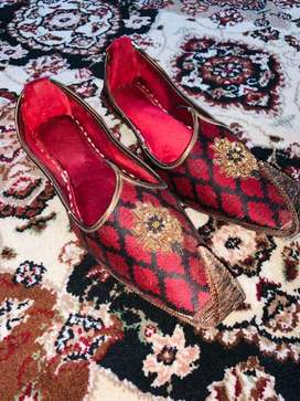 Groom jacquard embroiedered shoes