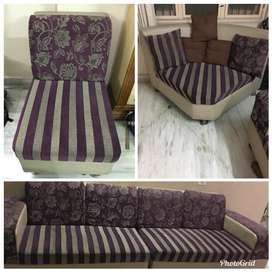 Purchased in stylespa. It is purple in color and an eight seater sofa