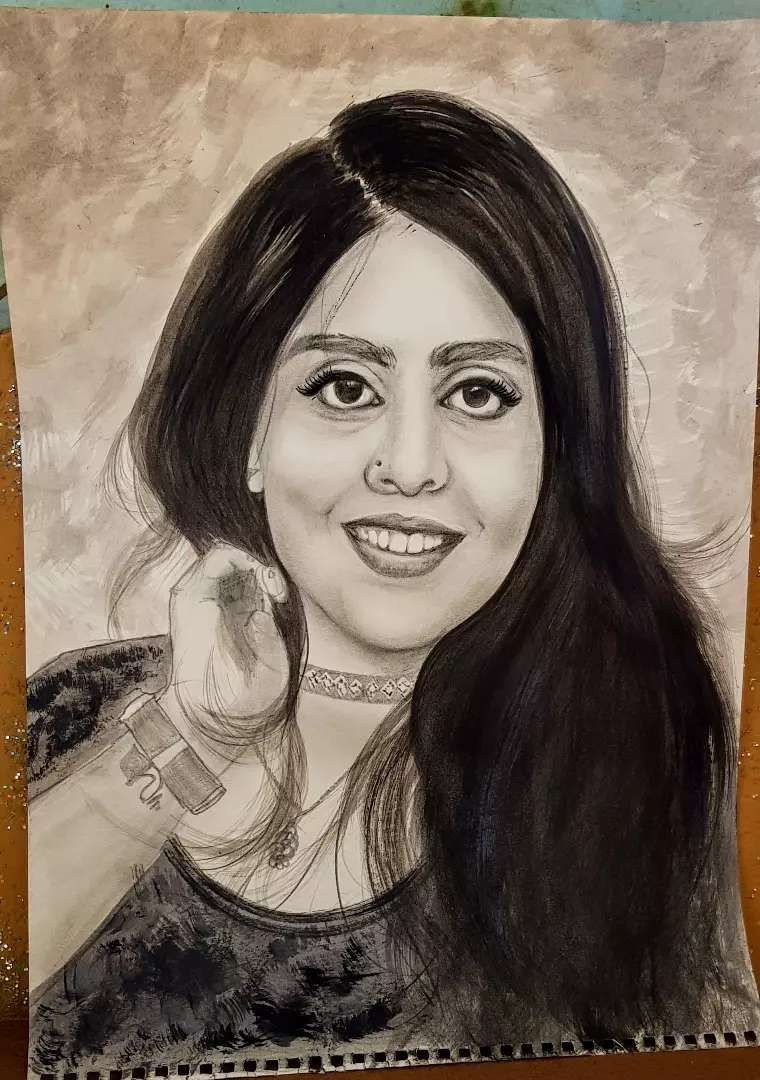 Online Sketching service.. charcoal on canson sheet