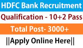 HDFC process hiring candidates for Hindi  KPO , Back Office and CCE.