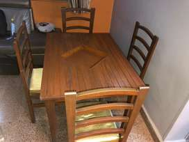 One Dining Table Four chairs (full set)