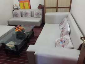 SOFA WITH bed and tabe urgent sale