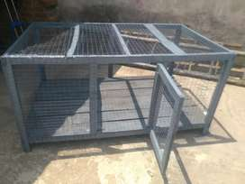 Big size cage wooden and iron net