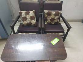 Two chair with table