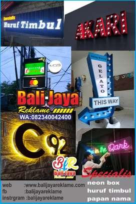 Letter timbul acrylic,galvanis,neon box,neon sign,sign board,billboard