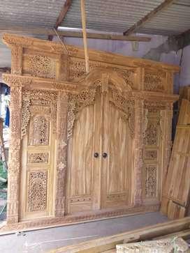 Gebyok bahan dari kayu jati wono