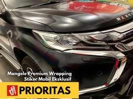 Stiker Mobil Bandung Wrapping mangele sticker hitam SATIN silk