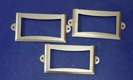 Name plate untuk furniture warna Nickel