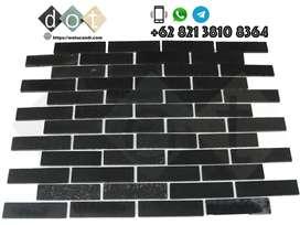Wall Covering Black Lava Batu Hiasan Tempel dinding Brick Campfire