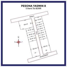 Diskon 25%, Tanah Kapling Dekat Tol BORR Yasmin Bogor