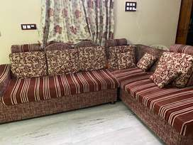 Customised sofa with pillows