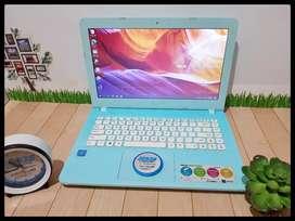 Laptop Asus X441N Biru Fullset Like New