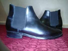 Branded leather shoes