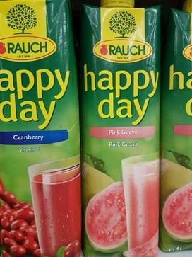 "Jus Buah Happy Day ""RAUCH"" 1 L rs: jeruk, apel, jeruk, cranberry,"