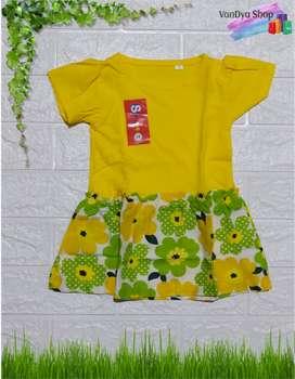 Dress Anak Kombinasi Kaos dan Katun Untuk Usia 1 Tahun