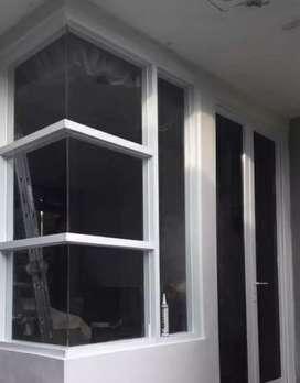 Pengerjaan Kusen, Pintu, Jendela, Partisi Aluminium Dan Kaca