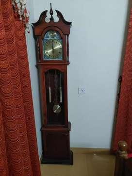 Antique clock & 4 chair