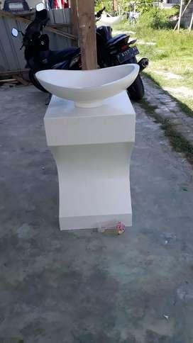 Wastafel meja bathtub terazzo
