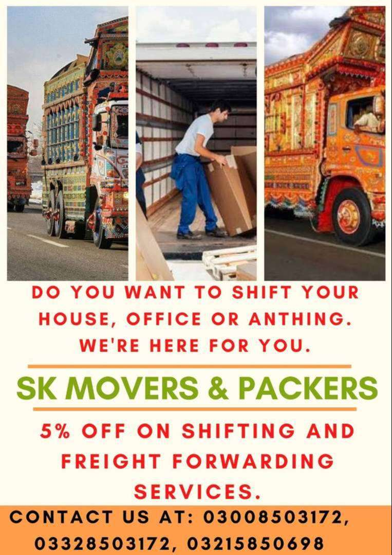 Home Shifting Services SK Movers & Packers in Islamabad Shehzore Mazda