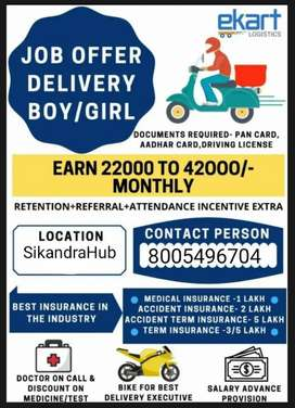 We are hiring for Delivery Executive