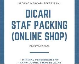 LOWONGAN KERJA PACKING Online Shop Karyawan Karyawati di Jalan Cibadak