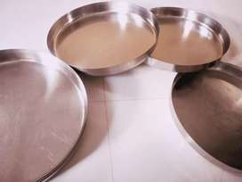 new stainless steel dise unused, thali, dish 100 per piece