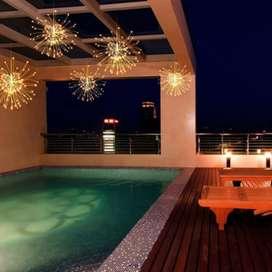 Lampu Hias Gantung Model Meteor Rain Fireworks 120 LED with Remote -