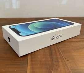 Iphone 12 blue   128GB  Sealed Box piece  Flipkart product