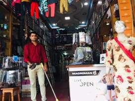 Sales Job at clothing showroom