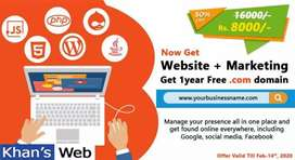 Website design  with 3 months Digital Marketing free