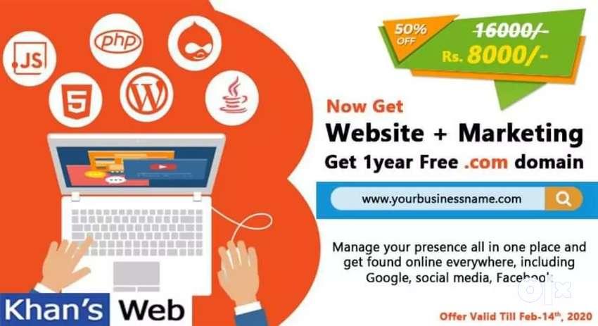 Website design  with 3 months Digital Marketing free 0