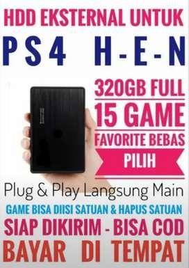 HDD 320GB Mantap Terjangkau FULL 15 Game Terkini PS4 Bebas Pilih