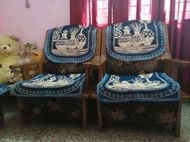 Sagwan sofa set only in Rs 15000