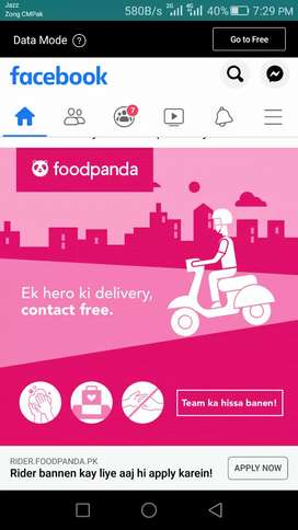 We are hiring riders foodpanda