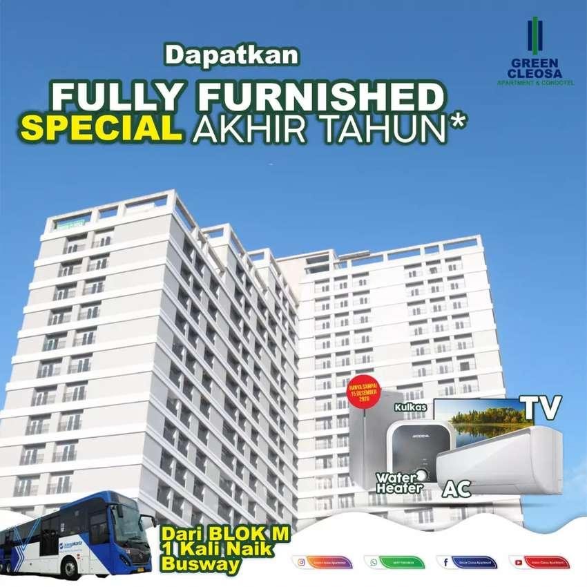 Apartemen siap huni, promo fully furnished cicilan 3jutaan 0