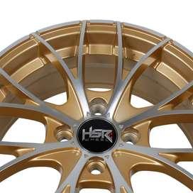 pelek keren HSR Naples H552 Ring 15x65 H4x100 ET38 Gold Machine Face