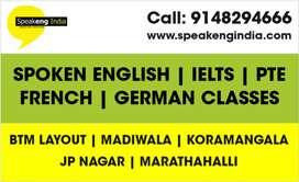 Spoken English classes in Marathahalli, Ecity, BTM and Jp nagar