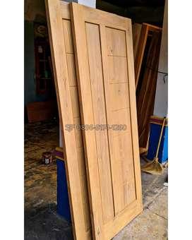 Pintu, kusen, jendela, potongan kayu jati, loster, boven, mebel, dll