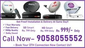 New Tata Sky HD Box 1 Month Free All india Service Airtel Digital Tv..
