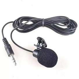 Mic clip on microphone Jack 3,5 untuk HP dan Laptop
