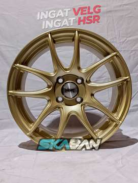 hsr wheel kamikaze ring 16x7 h4(100) gold di ska ban pekanbaru