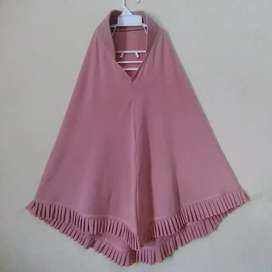 Preloved jilbab instan pink